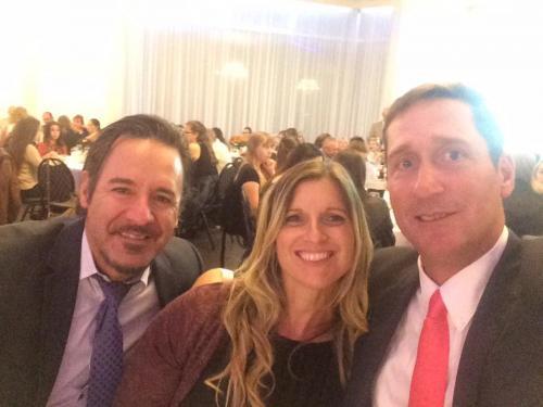 John, Dan, and Nora at Aerso banquet